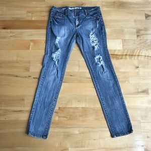 Mossimo Distress Skinny Fit 6 Mid Rise Jeans Sz 11